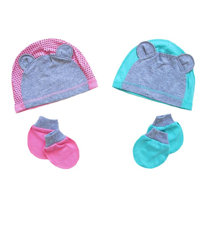 шапочка с царапками для новорожденных
