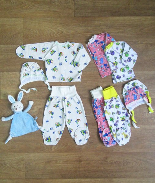 фотография комплект для новорожденного мир текстиля