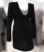 Женский джемпер с длинным рукавом для беременных, тонкая вязка