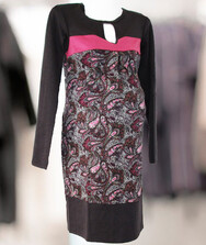 Женское платье с длинным рукавом для беременных, трикотаж