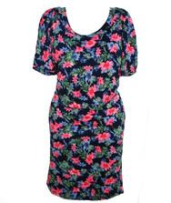 Платье женское с открытыми плечами, вискоза