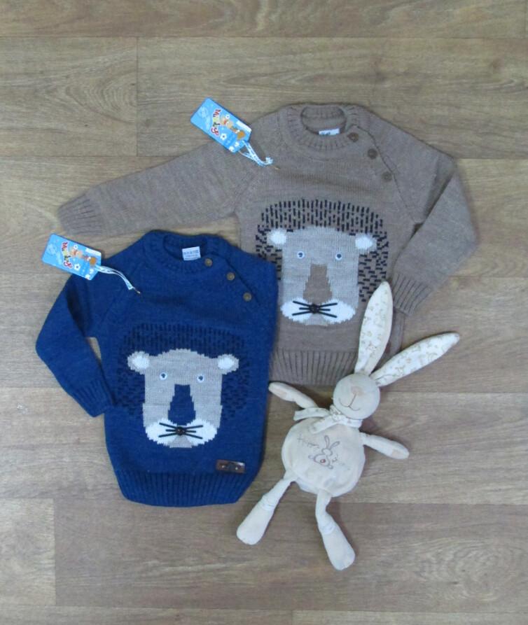 Детский свитер турецкий для мальчика, вязаный