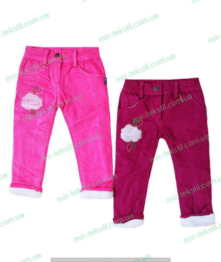 Детские штаны на меху турецкие для девочки вельвет