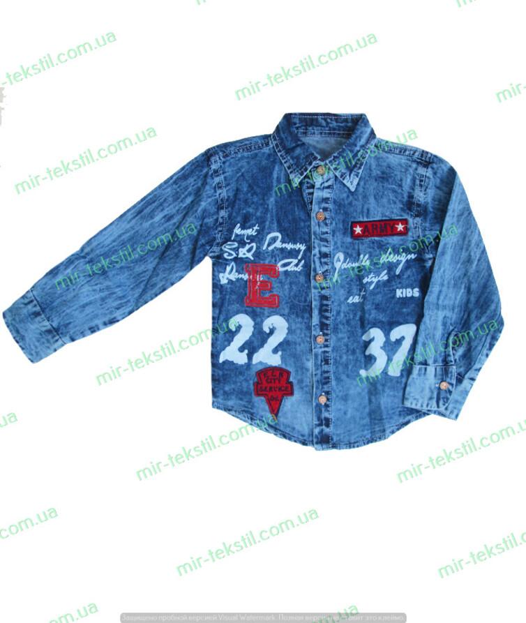 Детская джинсовая рубашка для мальчика  Турция