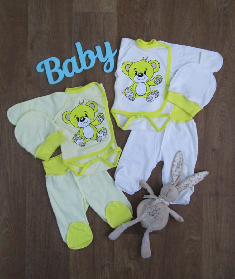 Комплект для новорожденного (боди, ползунки, шапочка), начес