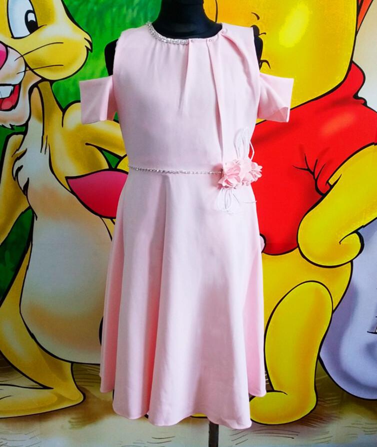 Розовое детское платье  Турция 80% хлопок, 20% полиэстр