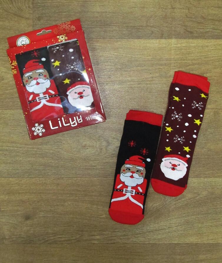 Новогодний набор женских носков (2 шт) Турция, махра