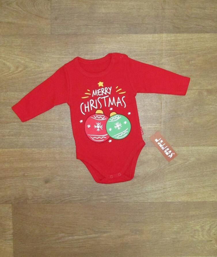Детский новогодний боди для малышей Турция, интерлок