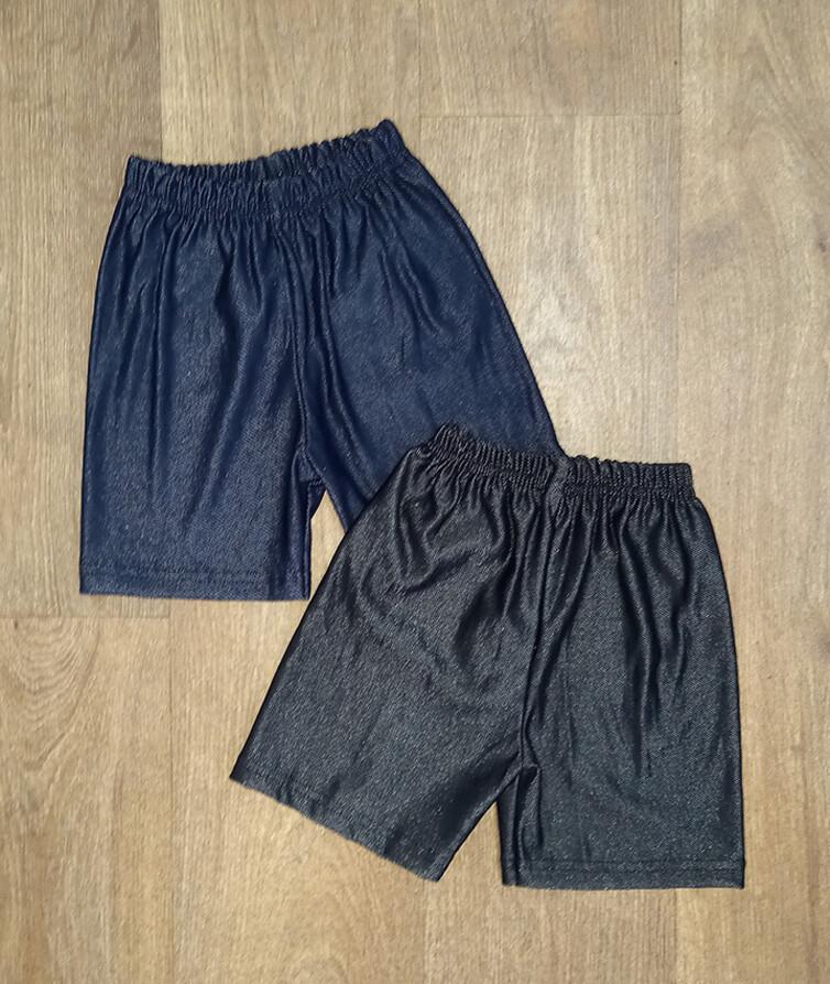 Тонкие детские шорты без карманов, турецкий стрейч джинс
