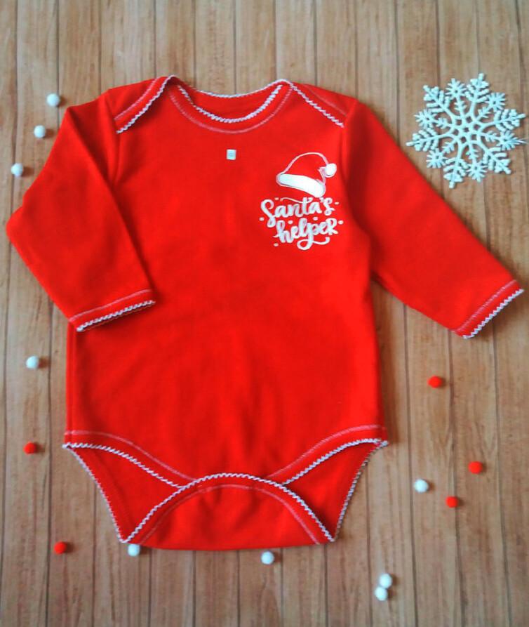 Бодик новогодний детский с крылышками, начес