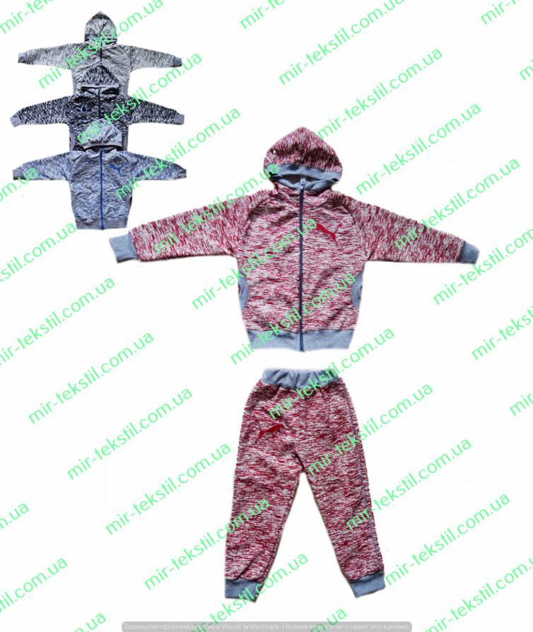 Детский спортивный костюм с капюшоном двухнитка флам с вышивкой