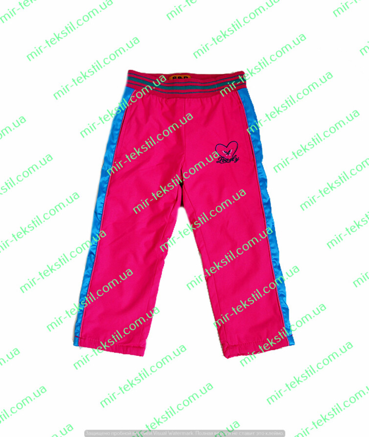 Штаны для девочки плащевка на флисе рост 98-128 см