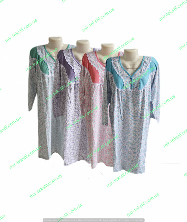 женская ночная рубашка на байка цветная