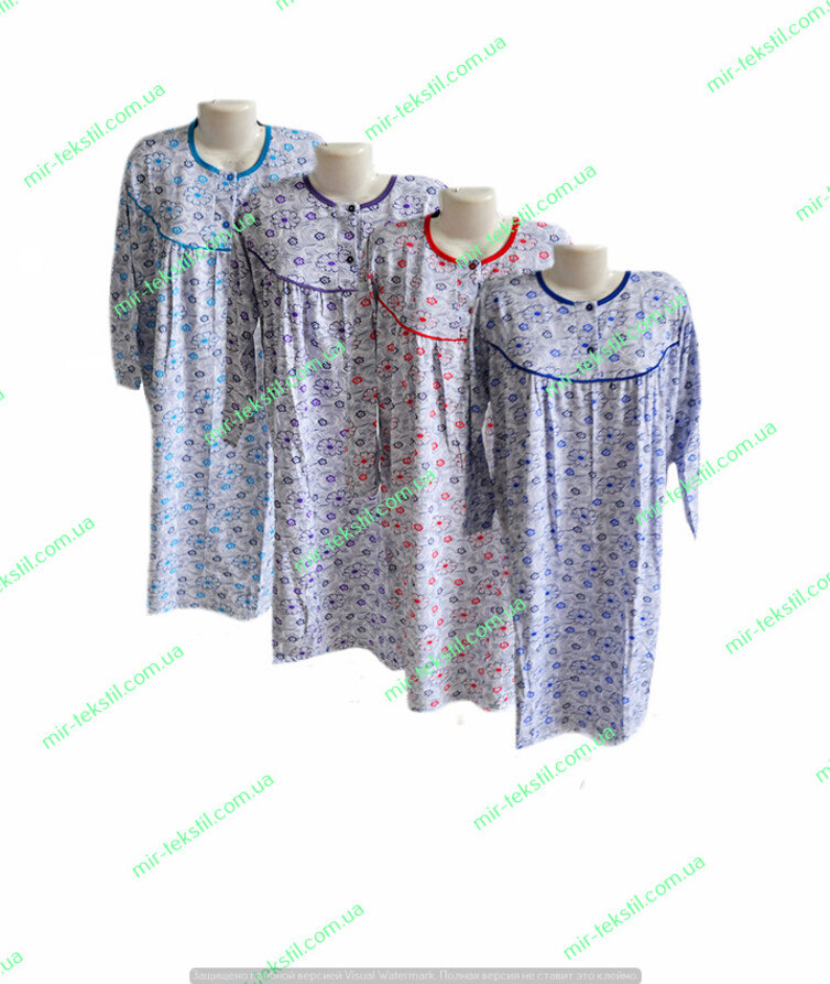 Ночная рубашка байка цветная