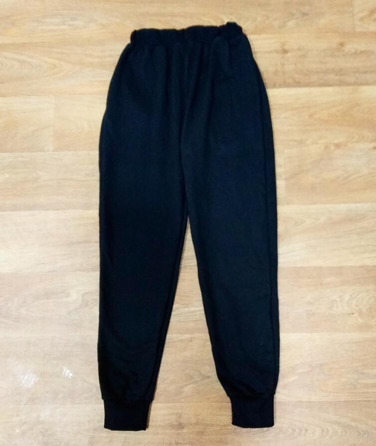 Телые мужские штаны  на манжете с карманами