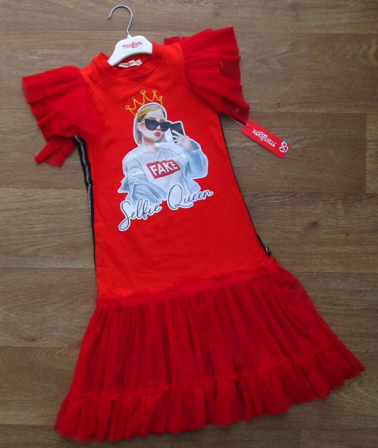 Детское платье с фатином турецкое