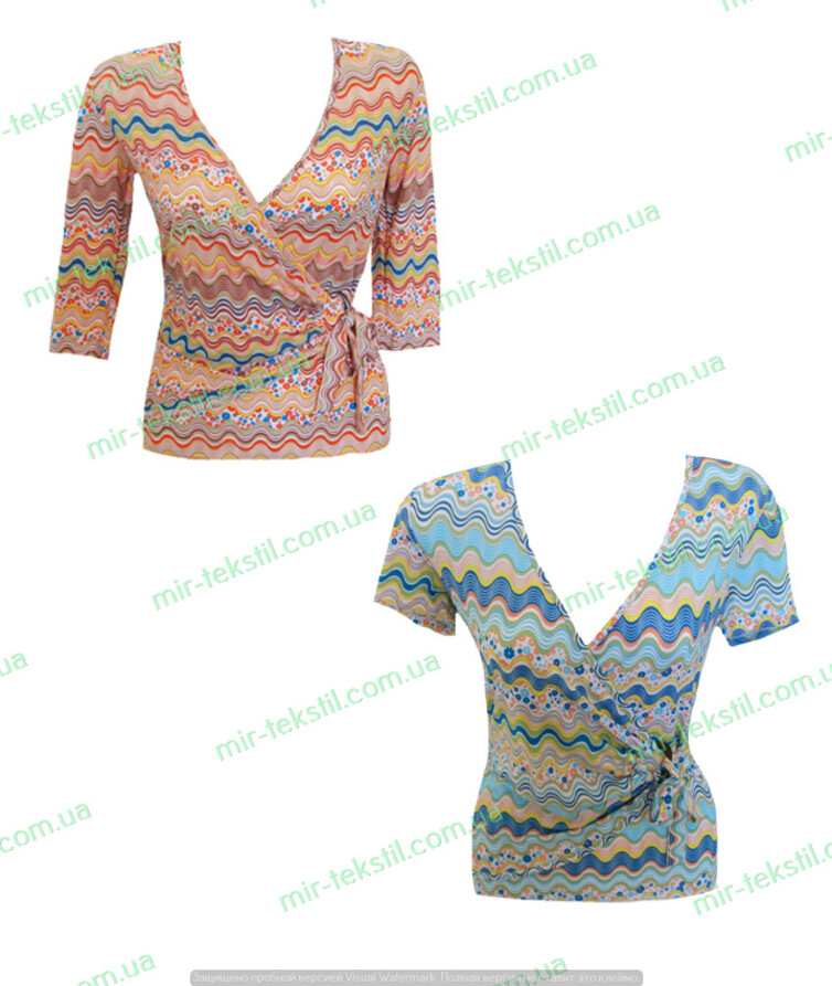 Блуза женская с коротким рукавом  вискоза