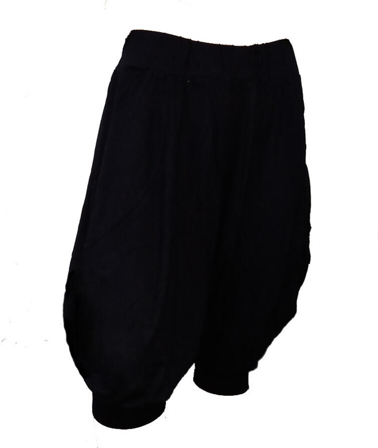 Женские черные бриджи (султанки), стрейч кулир