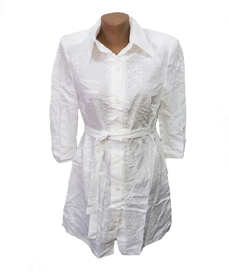Женская туника-рубашка, хлопок
