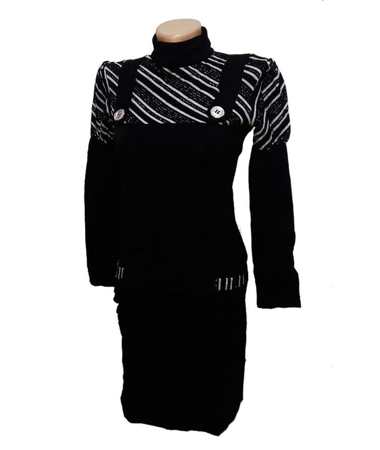 Женское теплое платье, акрил