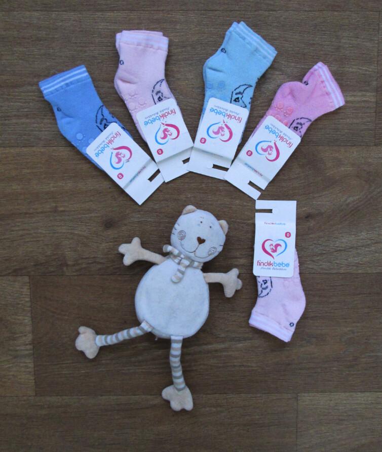 Носочки для новорожденных с тормозами Турция, махра