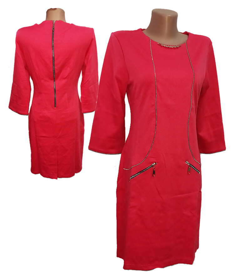 Платье женское рукав три четверти, трикотаж