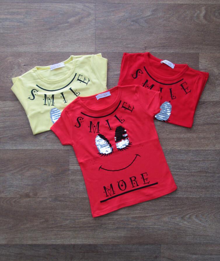 Детская футболка на девочку с паедками турецкая
