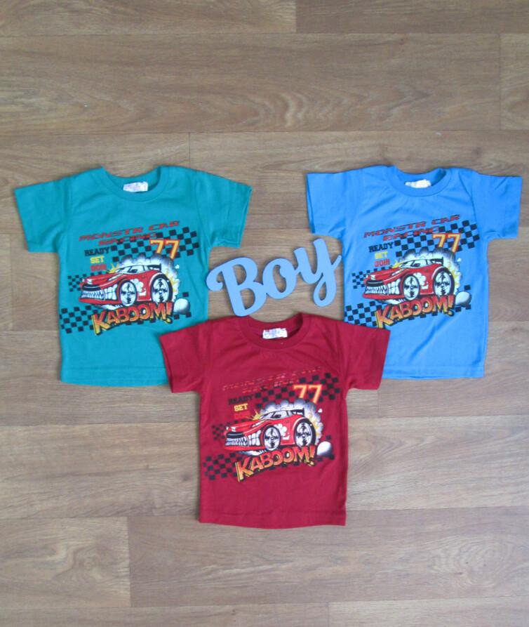 Детская футболка для мальчика хлопок с накатом турецкая