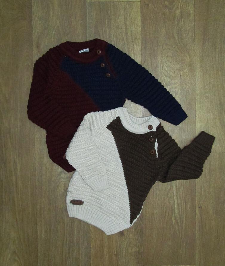Детский свитер для мальчика на пуговках Турция, вязаный