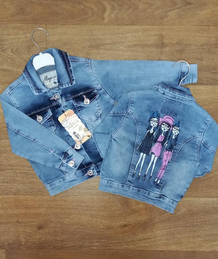Джинсовый детский пиджак для девочки Турция