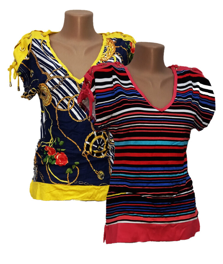 Женская футболка на шнурках по плечам, вискоза