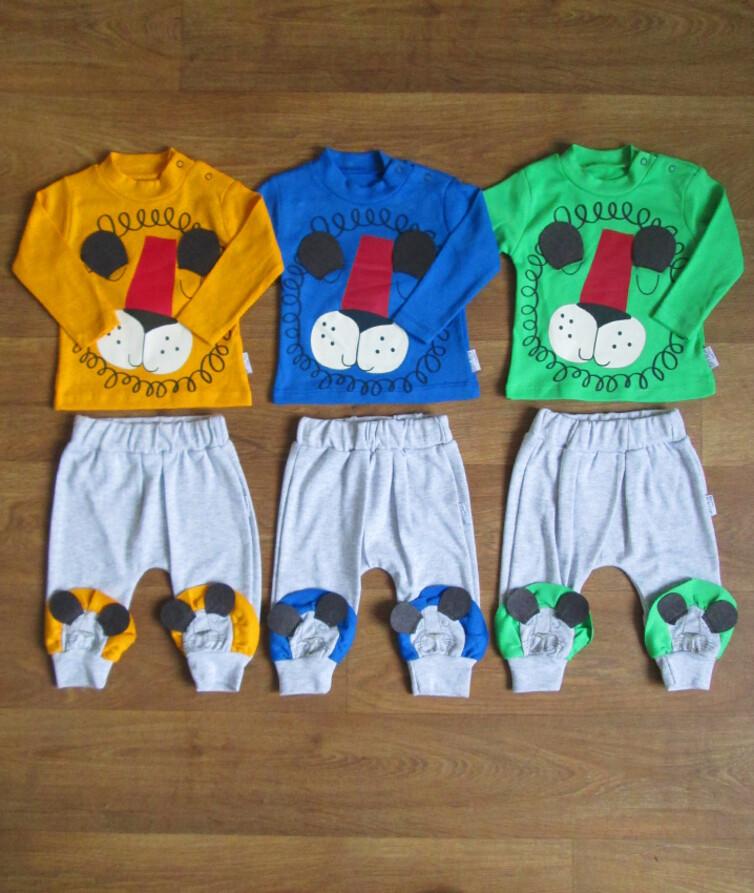 Ясельный костюм для мальчика Copi Mini (кофта+штанишки) интерлок