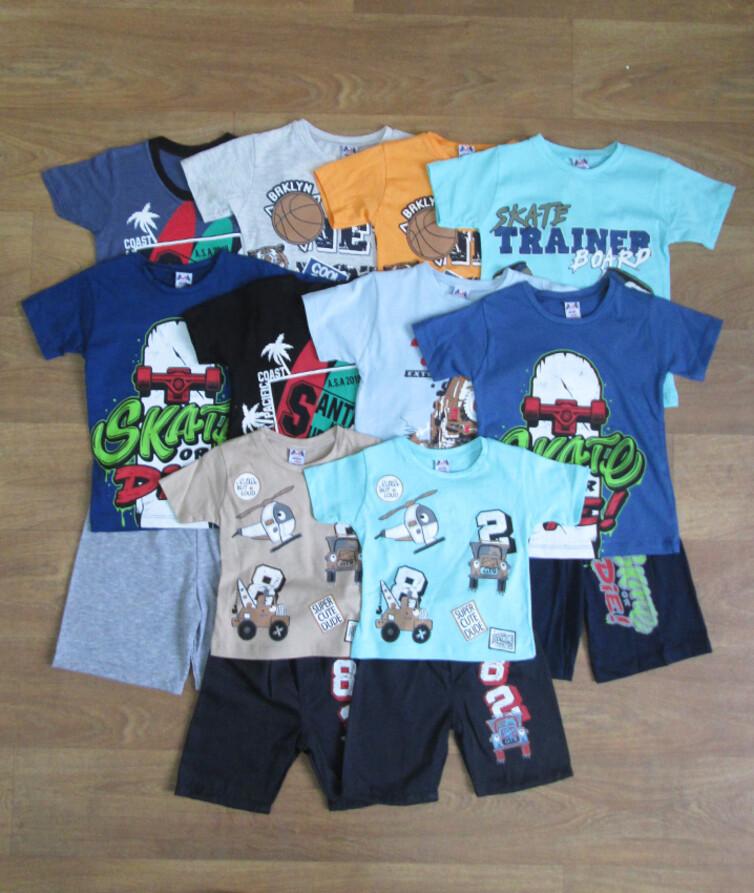 Костюм летний для мальчика футболка с шортами  Dodo Mix 100% коттон