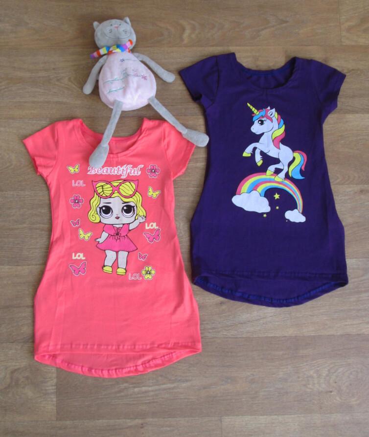 Детское платье-туника на девочку с карманами низ полукруг, стрейч кулир