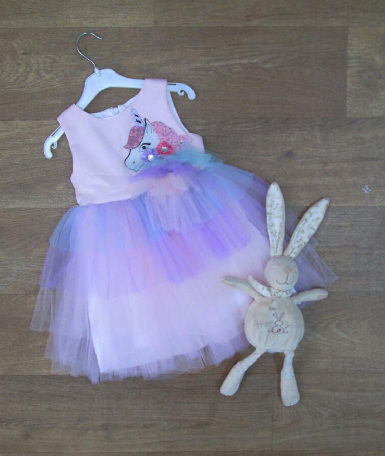 Детское платье для девочки турецкое, фатин