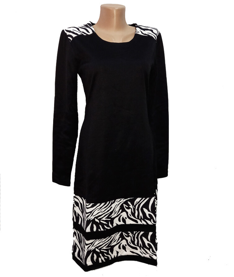 Платье женское с длинным рукавом, двухнитка