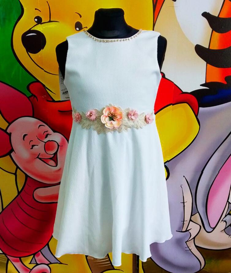 Красивое платье на девочку Турция 80% хлопок, 20% полиэстр