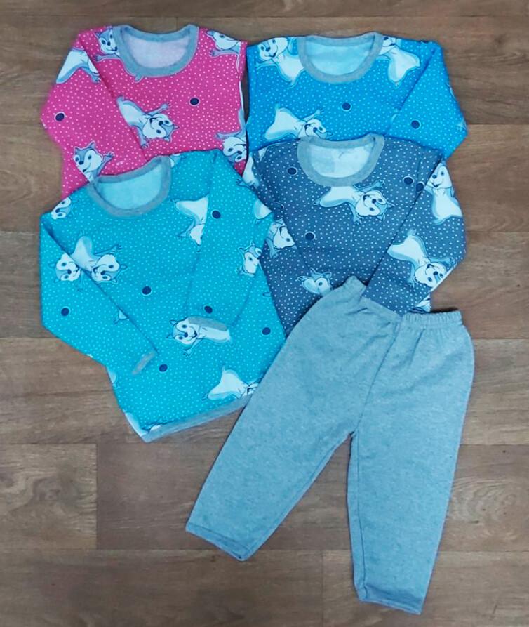 Детская пижама с начесом, байка