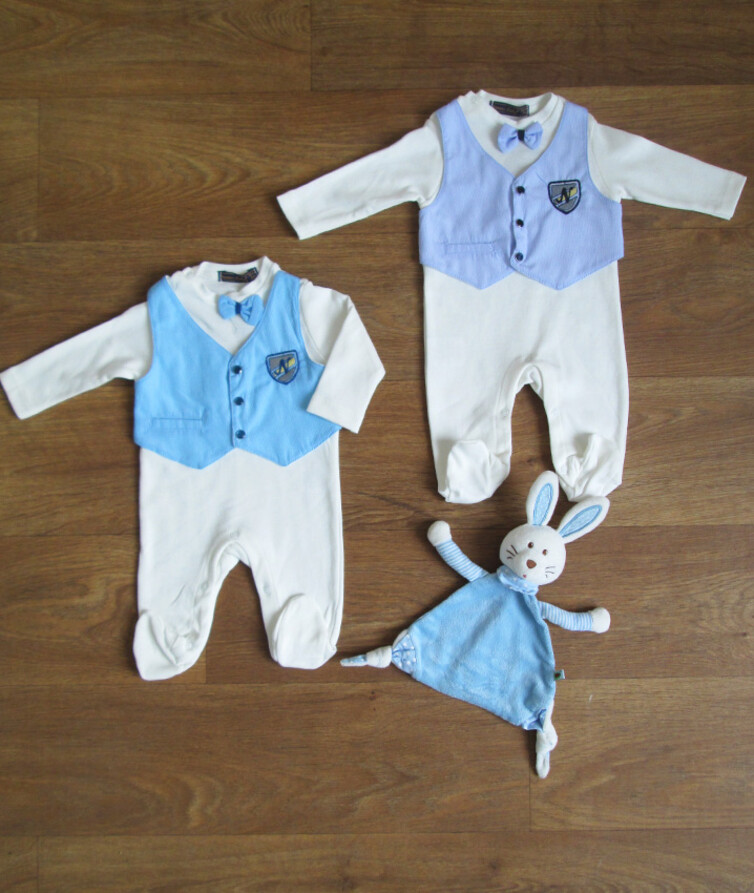 Комбинезон для мальчка нарядный турецкий Mymio Baby 100% коттон