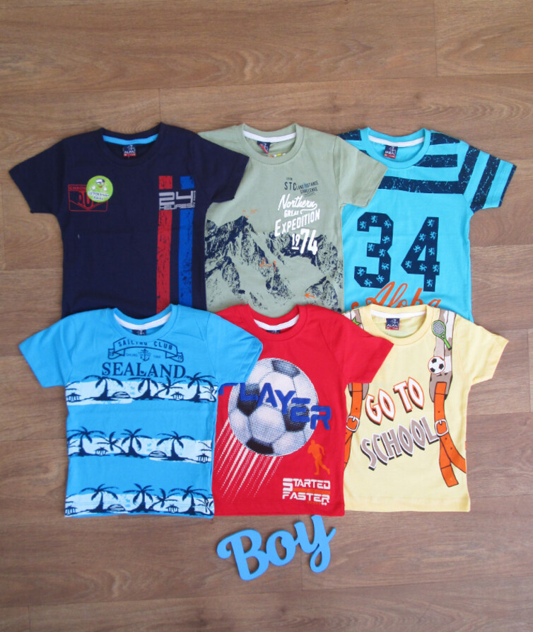 Детская футболка для мальчика турецкая кулир