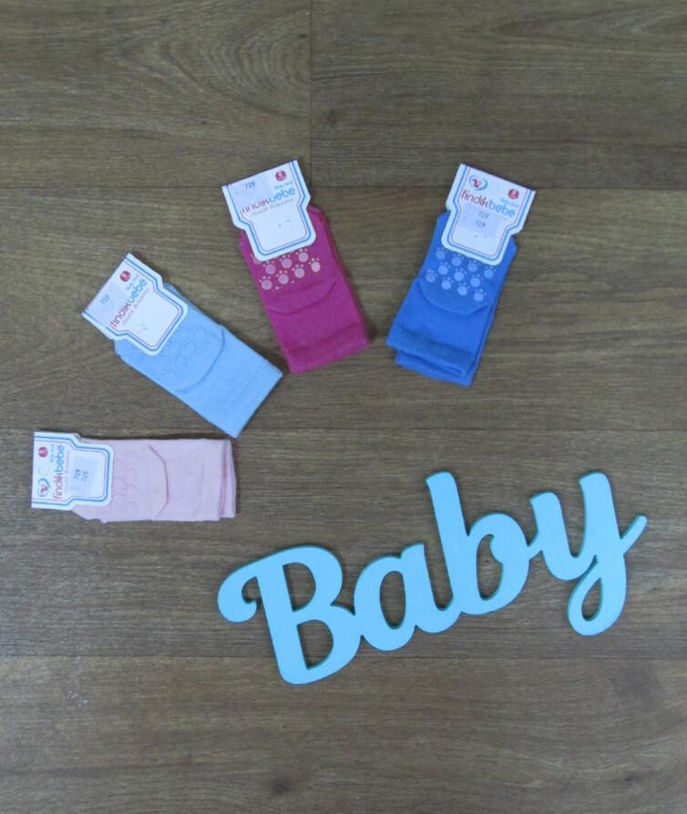 Носки для новорожденных с тормозами турецкие