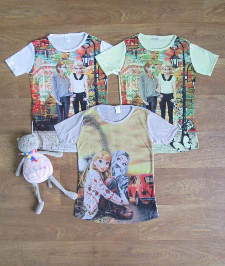 Детская футболка для девочки холодное сердце Турция