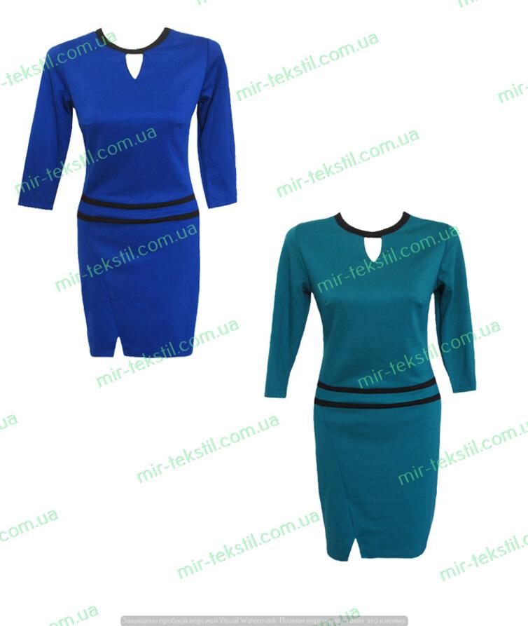 Платье женское с длинным рукавом однотонное