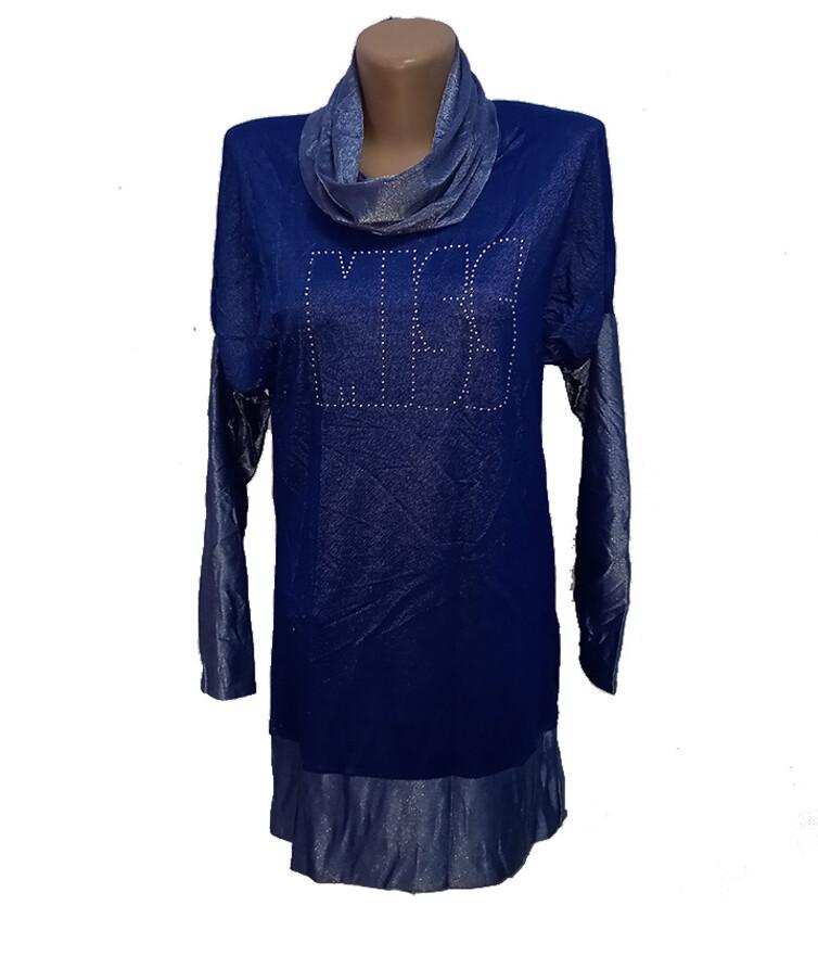 Женское платье-туника, стрейч джинс