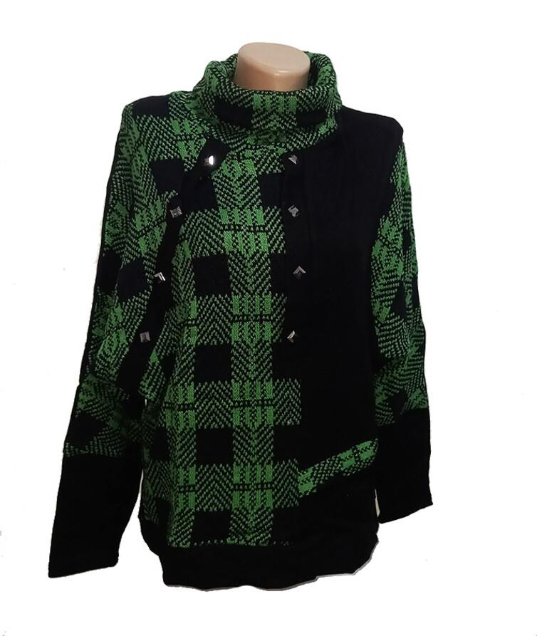 Женский свитер с высоким горлом, акрил