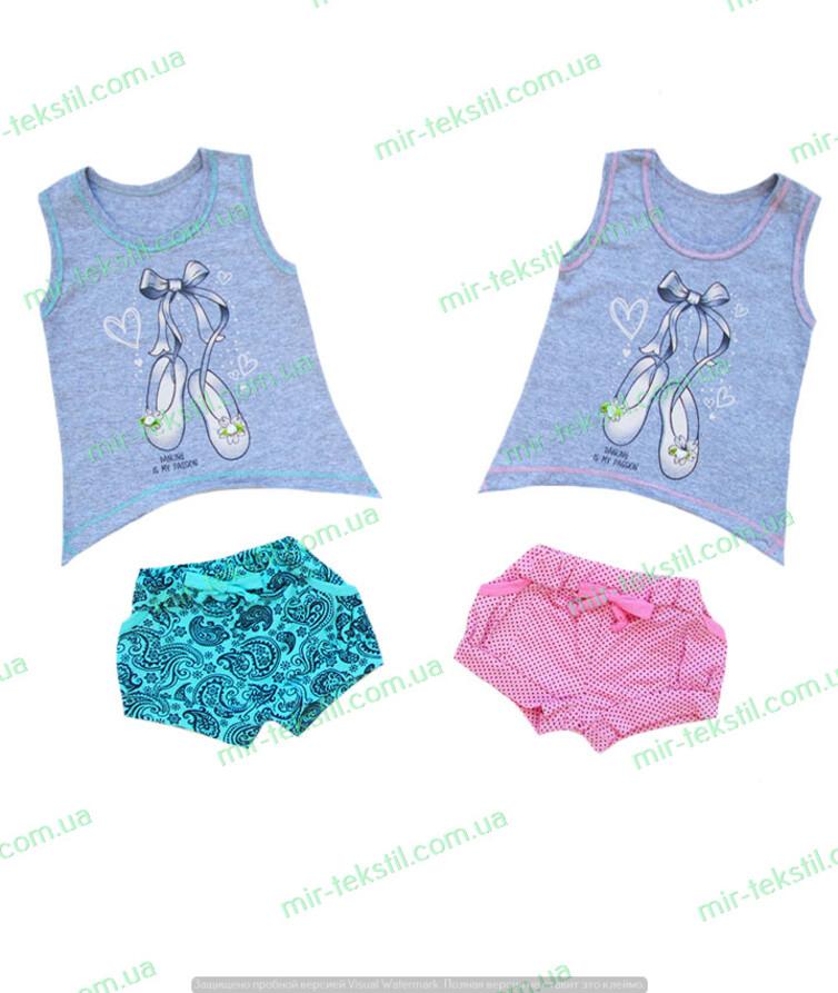 Летний костюм для девочки от дизайнера кулир