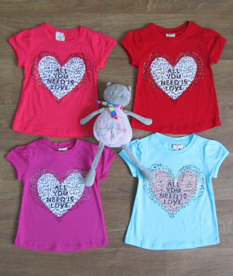 Детская футболка на девочку турецкая Akkuzu 100% коттон