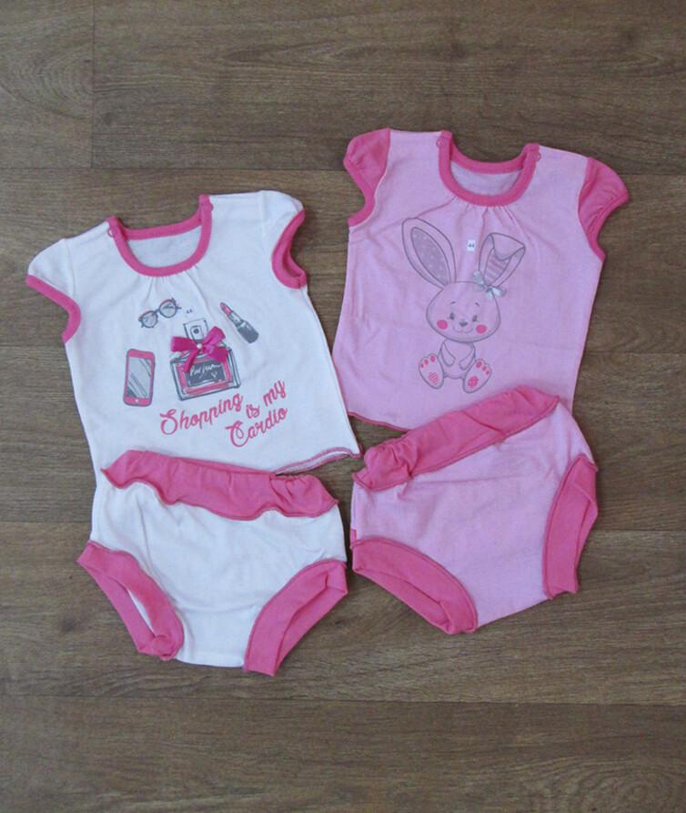 Комплект для новорожденных (футболка + трусики), кулир