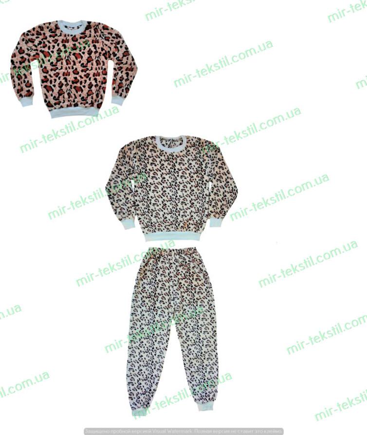 женская пижама тигровая махровая на манжетах