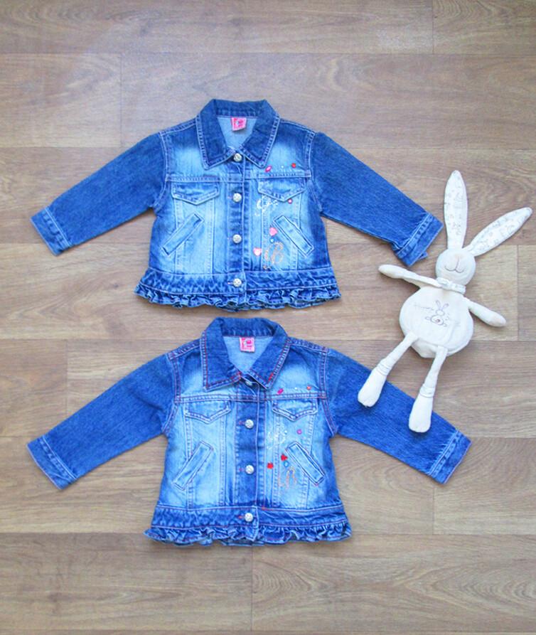 Пиджак для девочки джинсовый турецкий